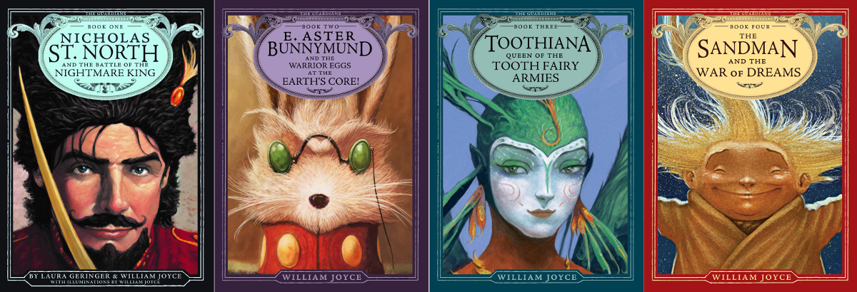 New Cover Art for the first four novels in The Guardians Series by William Joyce